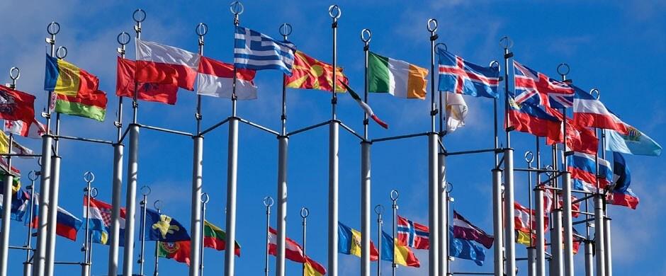 Europa-Flaggen